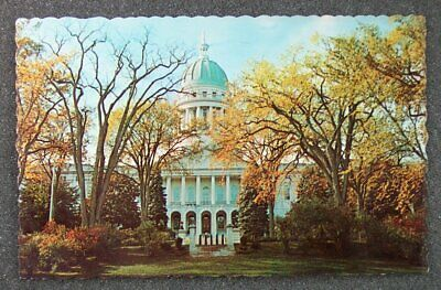1960s State Capitol Building Augusta ME Kennebec Co Postcard Maine
