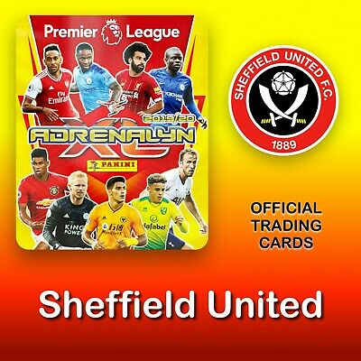 Panini Adrenalyn XL 2019-2020: Sheffield United cards. Premier League. NEW