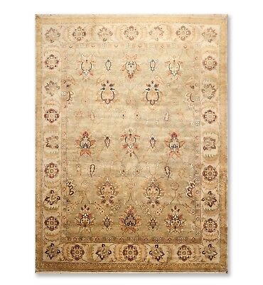 """8'11"""" x 11'8"""" Hand Knotted Wool Oriental Area Rug Traditional full pile Moss"""