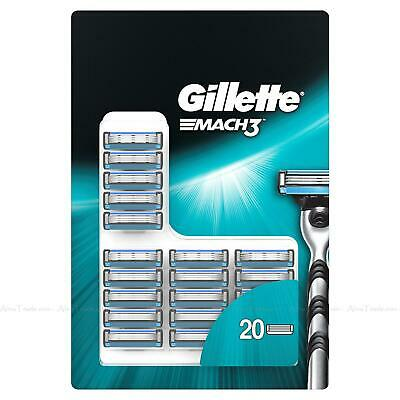 Gillette Mach3 Triple Shave Razor Replacement Cartridges 20 Blades Refill Pack