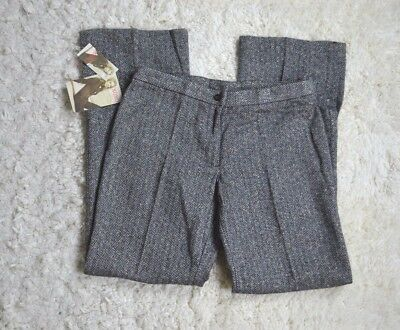 XOXO Juniors Womens Herringbone Wool Blend Work Dress Office Trousers Pants SZ 9