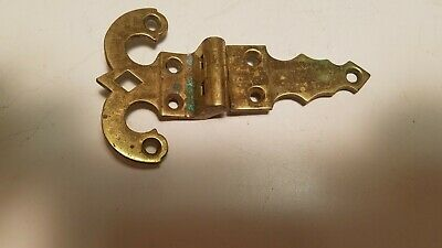 Antique Vintage Brass Ornate Cabinet Hinge