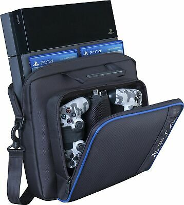 For PS4/Pro/Slim Game Consoles Accessories Carry Travel Case Black Multifunction
