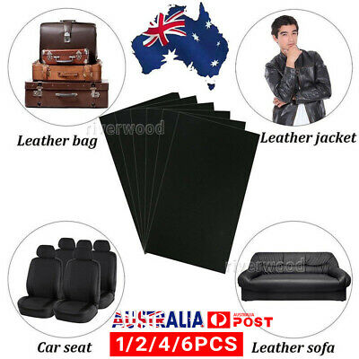 1/2/4/6 Leather Repair Kit Patch Car Seat Upholstery Filler Couch Sofa Furniture