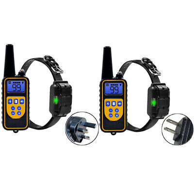Pet Dog Training Soft Rechargeable Electric Remote Control PU Collar Shock 1000m