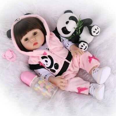 Reborn Baby Doll Full Silicone Vinyl Anatomically Gift Girl Dolls Toy+Clothes