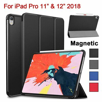 """For Apple iPad Pro 12.9"""" 3rd Gen 2018 Magnetic Smart Leather Folding Case Cover"""
