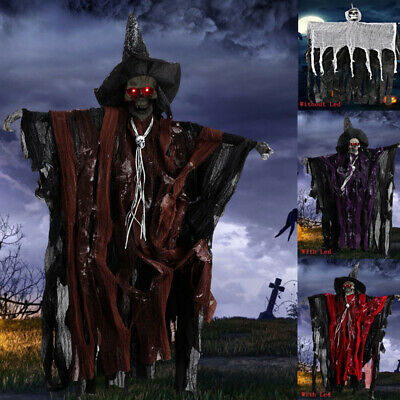 Halloween Decoration Prop Hanging Skeleton Ghost Scary Haunted House Party Decor