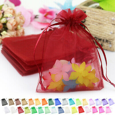 Organza Bags Holder Party Wedding Candy Favor Jewellery Gifts Pouch 20/50pcs