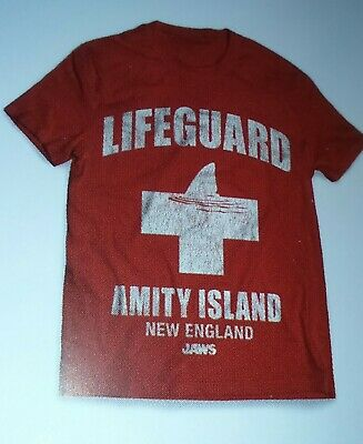 Nouveau Amity Island Shark Attack Jaws Movie Men/'s T-Shirt Blanc Taille S 3XL