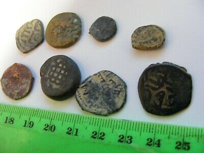 Lot of 8 Ancient Bronze Coins,..Unknown to me..could be Ottoman?