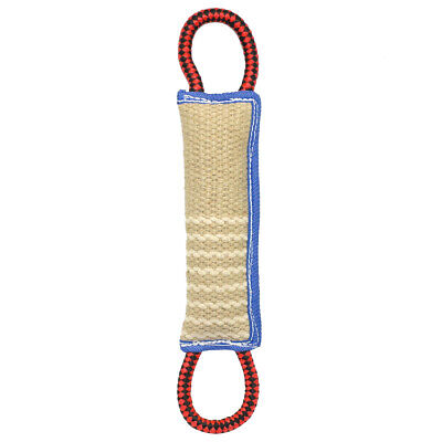 Large Aggressive Chew Toys for Dogs Indestructible Jute Dog Bite Tug & 2 Handles