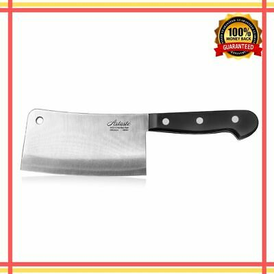 Butcher Cleaver Kitchen Knife Heavy Duty Meat Chopper Chef Stainless Steel 6 In