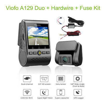 Viofo A129 Duo HD 1080P 30FPS Dual Lens Dash Camera WiFi +GPS +Hardwire Fuse Kit