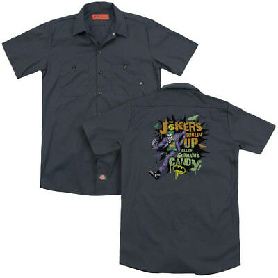 Batman Joker is GOBLIN CANDY Halloween Licensed Dickies Work Shirt All Sizes