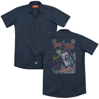 Batman Comic Cover #251 DISTRESSED Joker's Back Dickies Work Shirt All Sizes