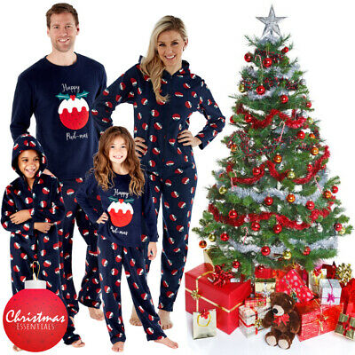 UK Family Xmas Matching Pajamas Adult Kids Christmas Pyjamas Nightwear PJs Sets