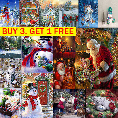 5D Diamond DIY Painting Father Christmas Embroidery Cross Stitch Home Decor 2019