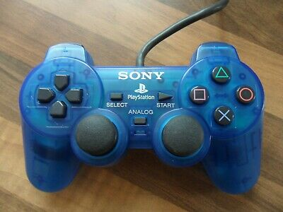 Original Sony Playstation PS1 Blue Controller SCPH-1200 Vintage Controller