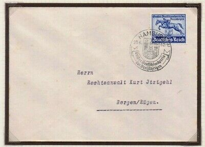 1940 Cover German Derby with Special Great German Prize for 3YO handstamp cancel