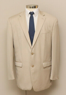 Mens 43R Ralph Lauren Tan 100% Wool Blazer