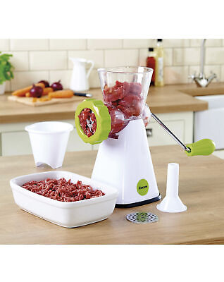 Dexam Hand Operated Meat Mincer and Sausage Maker,Cheese,Veg,Beans,Nuts Grinder