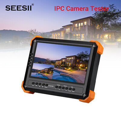 "Seesii CCTV Monitor 5MP 4 in 1 AHD/TVI/CVBS Camera Tester 7"" IPC Coaxial Tester"
