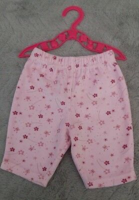 Baby Girls Cotton Pink Floral Joggers | Jogging Pants/Bottoms | (First Size)