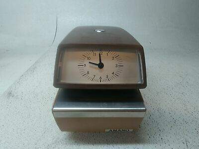 Time Clocks Amano Electronic Atomic Time Clock with Time and Date ...