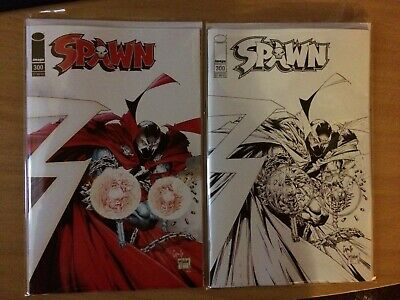 Spawn #300 (NM) (Todd McFarlane & Greg Capullo) Color/B&W Variants