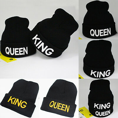 King and Queen Beanies Relationship Mr Mrs Embroidered Royalty Couple Goals