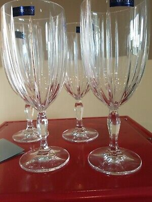 Marquis Waterford Crystal Iced Beverage Glasses Goblets Set 4 Omega  New Boxed