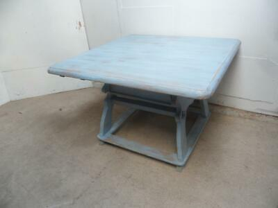 An Amazing Light Sky Blue Gustavian 4/6 Seater Old Pine Kitchen/DiningTable