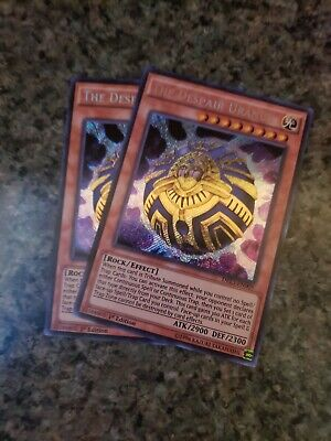 DRL3-EN009-1ST EDITION YU-GI-OH SECRET RARE CARD THE DESPAIR URANUS
