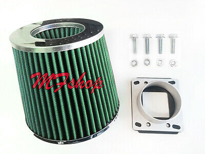 GREEN 2.75 inch 70mm universal cone Air filters for Toyota Celica MR2 Camry