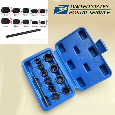 11 Pcs Mixed Car Damaged Nuts and Bolts Extractors Removal Tool Kit Universal