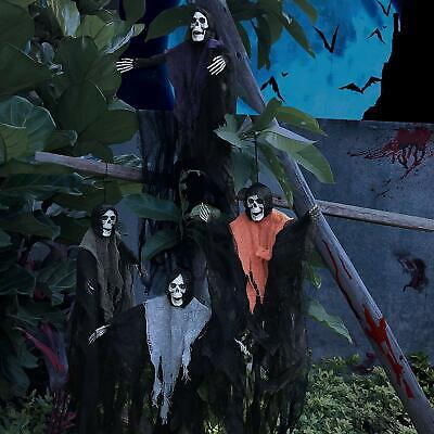 Halloween Decorations 4 Creepy Scary Hanging Grim Robe Reapers Ghost Yard Decor