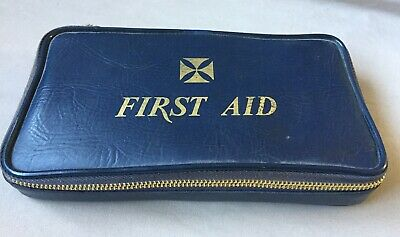 Linnex FIRST AID KIT case Vintage COMPLETE UNUSED Medical Supplies Travel Pouch
