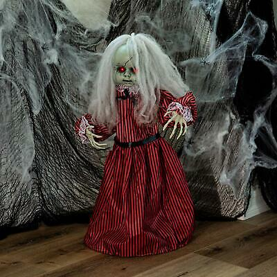 Halloween Animated Scary Spooky Light Up Roaming Haunted Holly Doll Decor Prop