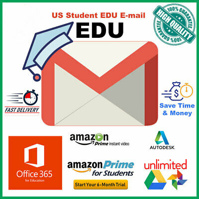 EDU Email US Student E-mail 🔥Office 365, Amazon Prime, Unlimited Gdrive Storage