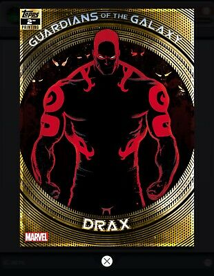 Topps MARVEL COLLECT DIGITAL Card GUARDIANS OF THE GALAXY 2ND PRINTING DRAX