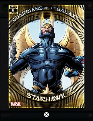 Topps MARVEL COLLECT DIGITAL Card GUARDIANS OF THE GALAXY 2ND PRINTING STARHAWK