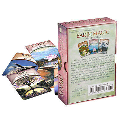 48-card Magic Oracle Cards Game Earth Magic Read Fate Tarot Deck Set Kit HOT