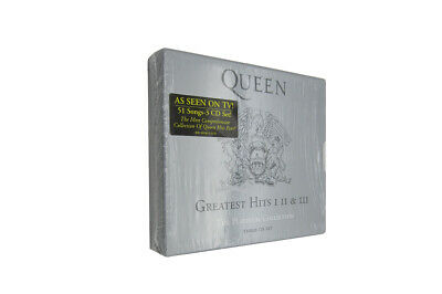 """The Queen """"Greatest Hits I II & III 1-3 (The Platinum Collection)"""" 3 CD Box Set"""