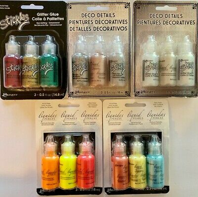 Ranger Stickles 15 Pack Glitter Glue & Liquid Pearls - #2