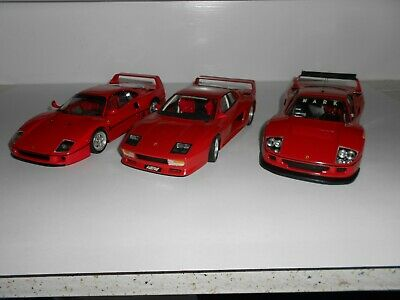 1:24 Scale Assembled plastic kits. Ferrari Sports x 3. Good Condition. No boxes