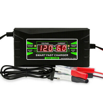 12V 6A Electric Car Lead-acid Battery Smart Fast Charger With Crocodile folder