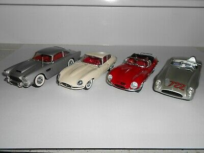 1:24 Scale Assembled plastic kits. DB4. Jaguar, Mercedes. Good Cond. No boxes