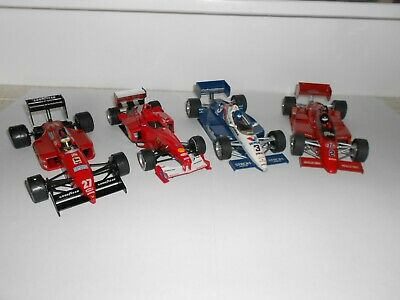 1:24 Scale Assembled plastic kits. Formula 1 racing cars x 4.Good Cond. No boxes