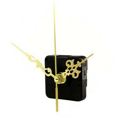 Clock Quartz Movement Mechanism Gold Hands DIY Repair Replacement Part Set Hot